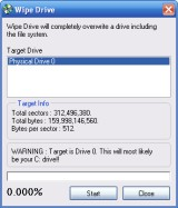 View the Wipe Drive screenshot